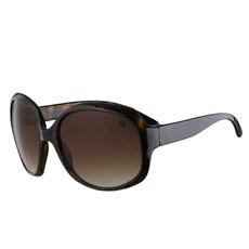Óculos de Sol Feminino Redondo Grande Marrom Cow Way 25311