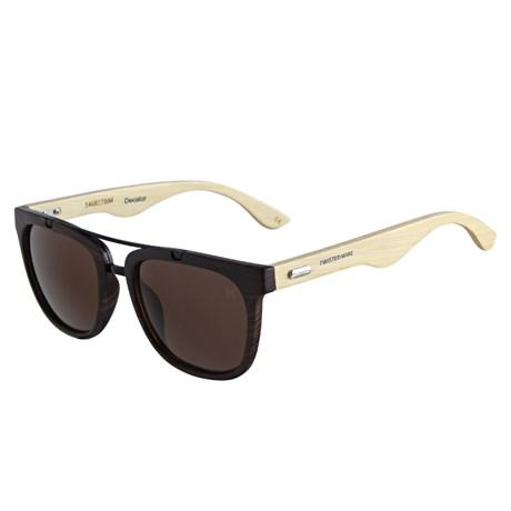 Óculos de Sol Quadrado Marrom Twisted Wire 29936