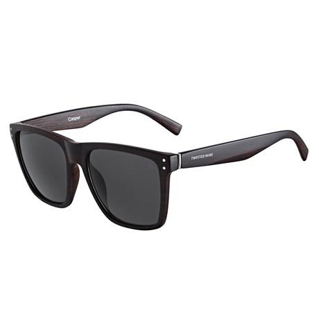 Óculos de Sol Quadrado Marrom Twisted Wire 29950