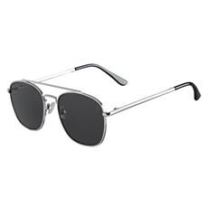 Óculos de Sol Quadrado Prata Twisted Wire 29949