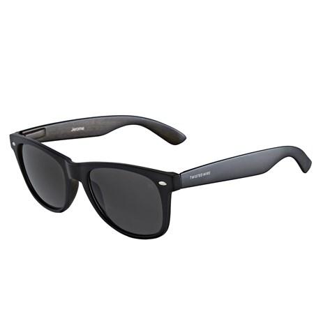 Óculos de Sol Quadrado Preto Twisted Wire 29937