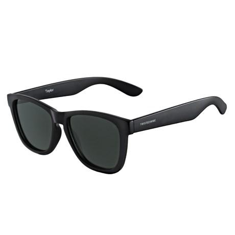 Óculos Escuro Polarizado Quadrado Preto Twisted Wire 29944