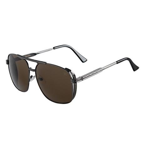 Óculos Escuro Quadrado Lente Marrom Twisted Wire 29952