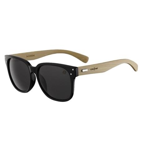 Óculos Escuro Quadrado Preto Bambu Cow Way 25302