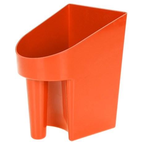 Pegador em Plástico para Ração e Água Laranja - K&D Equestrian 15339