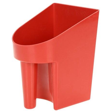 Pegador em Plástico para Ração e Água Vermelho - K&D Equestrian 15338