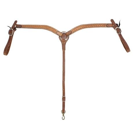 Peiteira para Cavalo Fabricada em Couro Bordado Modelo Y - Rodeo West 17006