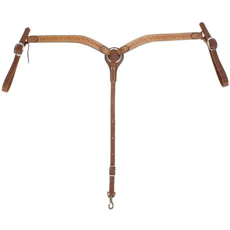 Peiteira para Cavalo Fabricada em Couro Bordado Modelo Y - Rodeo West 17007