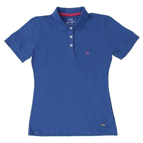 Polo Feminina Azul Wrangler 19775 - Rodeo West c435ffed85679