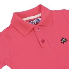 Polo Infantil Feminina Rosa Rodeo Western 22588