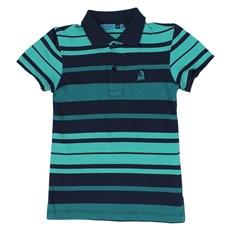 Polo Infantil Masculina Verde Listrada - Tassa Boys 19375