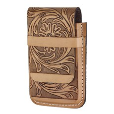 Porta Celular Country de Couro Floral Natural Cow Way 26498