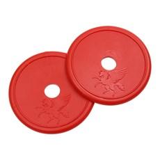 Protetor Lateral de Borracha Vermelha para Freio e Bridão Rodeo West 27338