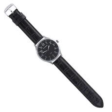 Pulseira de Couro para Relógio Croco Preta Ostral 25102
