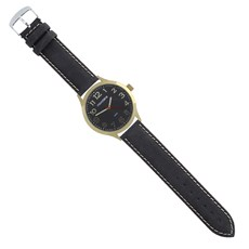 Pulseira de Relógio de Couro Preto Ostral 25114