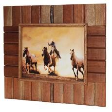 Quadro Decorativo Cavalos Fabricado em Madeira - Rodeo West 13250