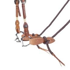 Rédea com Slobber Fabricada em Nylon Marrom - Rodeo West 17735