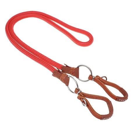 Rédea em Nylon Vermelha com Argolas em Inox A Pantaneira 29230