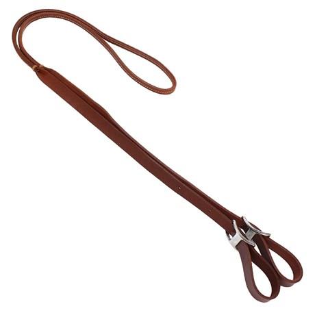 Rédea para Cavalo Fabricada em Couro Cana Dupla e Ponteira Chata Top Equine 23927