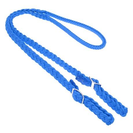 Rédea Trançada de Nylon Azul Rodeo West 28475