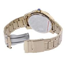 Relógio Masculino Dourado 3 Tambores Long Life 5 ATM Seculus 24979