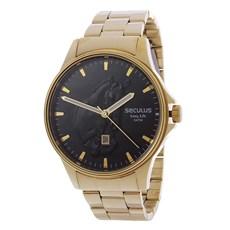Relógio Masculino Dourado Long Life 5ATM Seculus 24984