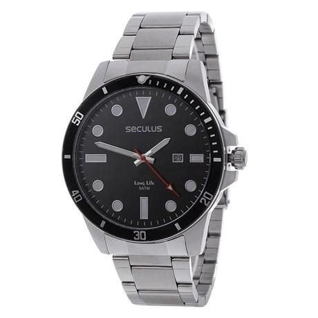 Relógio Masculino Seculus Long Life 5 ATM Prata 24981