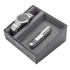 Relógio Prata Masculino Seculus com Canivete 11 Funções 23811
