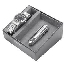 Relógio Seculus Fundo Preto Masculino e Canivete 11 Funções 23807