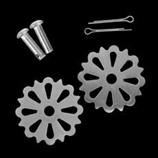 Roseta Flor em Aço Inox Escovado para Espora Western - Metalab