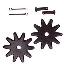 Roseta para Espora Western 10 Pontas Antique Steel - Metalab 13381