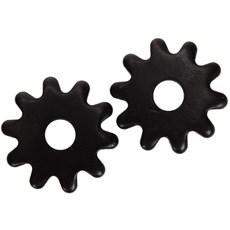 Roseta para Espora Western 10 Pontas Black Steel - Metalab 13382