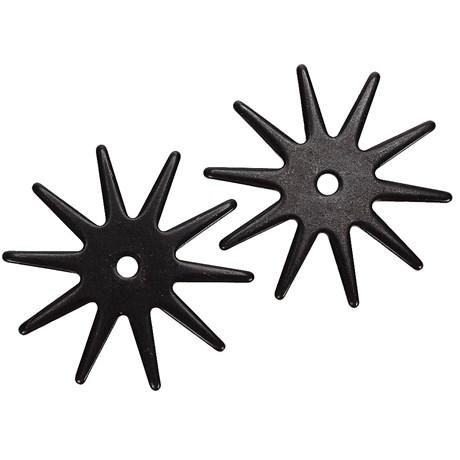 Roseta para Espora Western 10 Pontas Black Steel - Metalab 13386