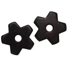 Roseta para Espora Western 5 Pontas Black Steel - Metalab 13384