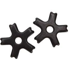 Roseta para Espora Western 5 Pontas Black Steel - Metalab 13387