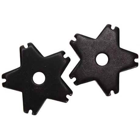 Roseta para Espora Western 5 Pontas Black Steel - Metalab 13388