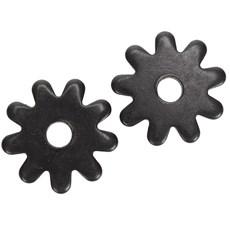 Roseta para Espora Western 9 Pontas Black Steel - Metalab