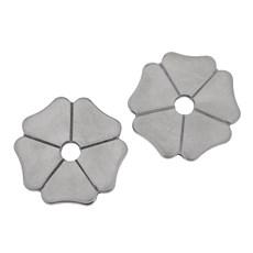 Roseta para Espora Western Aço Inox Metalab Modelo Trevo 5 Pontas 25553