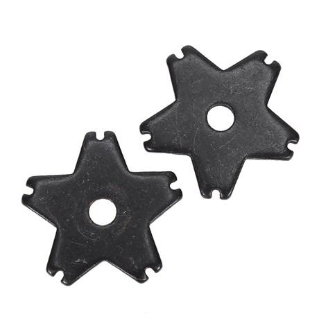 Roseta para Espora Western Metalab 5 Pontas Black Steel 21761