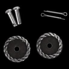 Roseta Redonda para Espora Western Antique Steel - Metalab