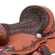 "Sela Americana para Cavalo Assento 14,5"" Havana Bronc-Steel 29468"