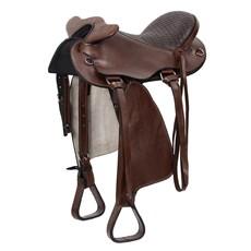 """Sela de Cabeça para Cavalo Australina Tradicional Elite Marrom 15"""" Bronc-Steel 25834"""