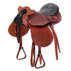 Sela de Cavalo Australiana de Cabeça Tradicional Havana 15'' Completa Bronc-Steel 25835