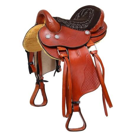 "Sela de Cavalo Australiana Havana Assento 15"" Bronc-Steel 29028"
