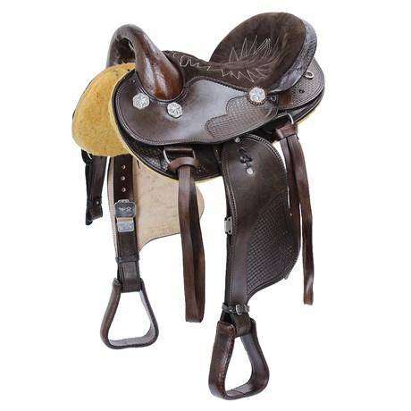 Sela de Cavalo Australiana Marrom Assento 15'' Bronc-Steel 23393