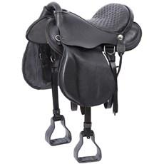 Sela de Cavalo Australiana Preta Assento 15'' Bronc-Steel 21747