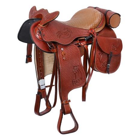 Sela de Cavalo Australiana Tradicional Elite Havana 15'' Completa Bronc-Steel 25838