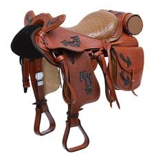 Sela de Cavalo Australiana Tradicional Havana 15'' Completa Bronc-Steel 27575