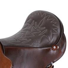 Sela de Cavalo Australiana Tradicional Marrom 15'' Completa Bronc-Steel 25833