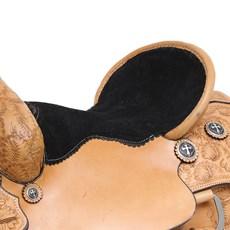 Sela de Laço Profissional em Couro Natural 16'' Argolas em Aço Inox Rodeo West 29154